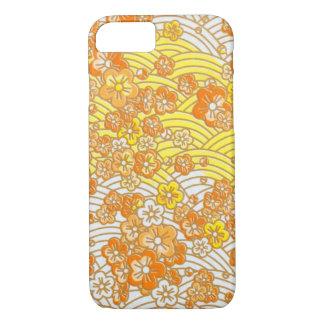 Orange Sakura iPhone 7 Case