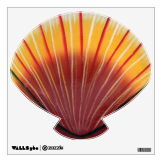 Orange Scallop Shell Wall Decal