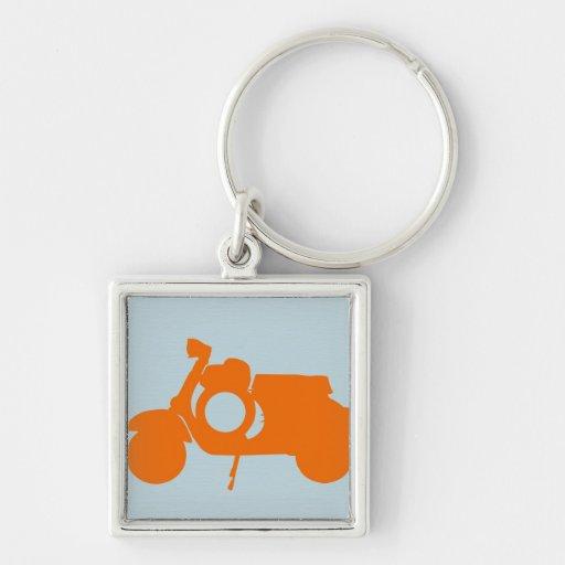 Orange Scooter Keychain