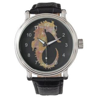 Orange Seahorse Watches
