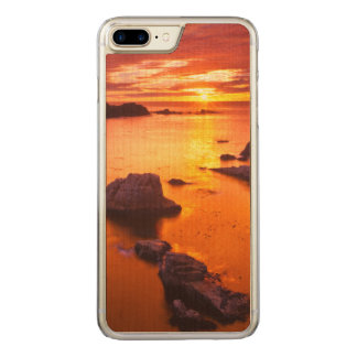 Orange seascape, sunset, California Carved iPhone 7 Plus Case