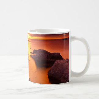 Orange seascape, sunset, California Coffee Mug