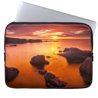 Orange seascape, sunset, California Computer Sleeve