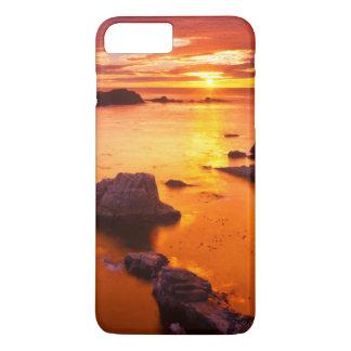 Orange seascape, sunset, California iPhone 7 Plus Case