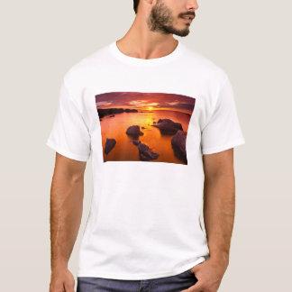 Orange seascape, sunset, California T-Shirt