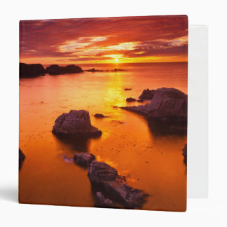 Orange seascape, sunset, California Vinyl Binders