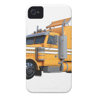 Orange Semi Tractor Trailer iPhone 4 Case-Mate Case