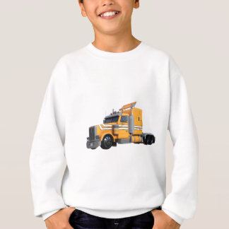 Orange Semi Tractor Trailer Sweatshirt