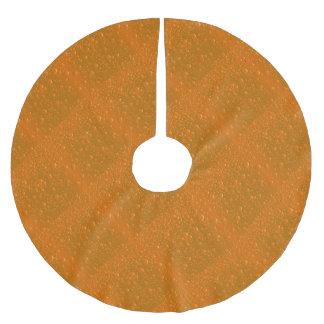 Orange Shade Bibble Background Brushed Polyester Tree Skirt