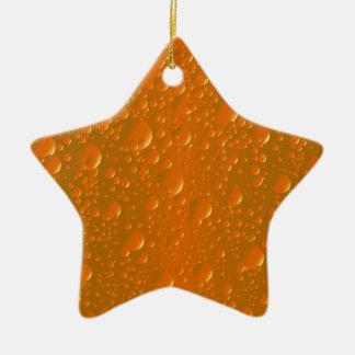 Orange Shade Bibble Background Ceramic Ornament