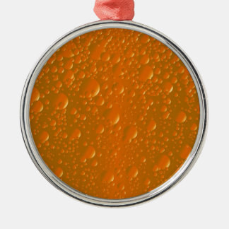 Orange Shade Bibble Background Metal Ornament