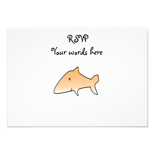 Orange shark invites
