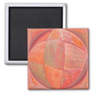 orange sherbert 2 square magnet