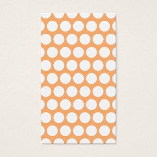 Orange Sherbet and White Polka Dots Business Card
