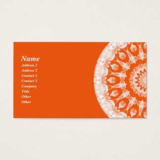 Orange Sherbet Kaleidoscope Business Card