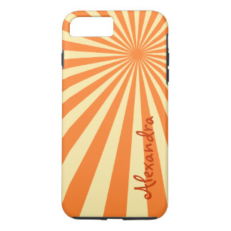 "Orange Sherbet Sunburst ""Add Your Name"" iPhone 7 Plus Case"
