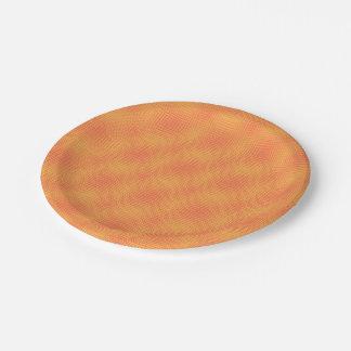 Orange Shifters 7 Inch Paper Plate