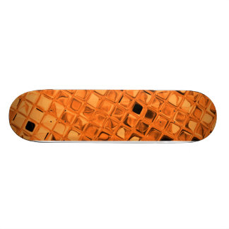 Orange Shiny Diamonds Sissy Girly Girl Skateboard