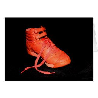 Orange Shoe Glad It's Christmas? Card