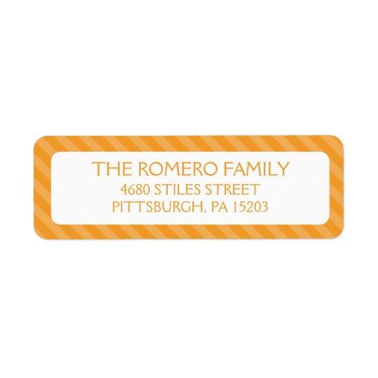 Orange Simple Stripes Custom Personalized