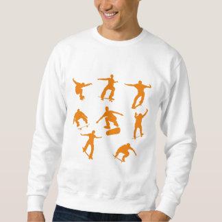 Orange Skaters Sweatshirt