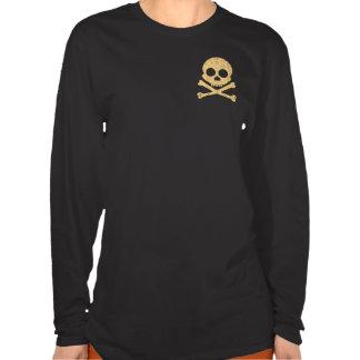 Orange Skull Distress 2-Sided Women s Dark Shirts