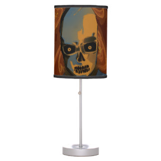 Orange Skull Table Lamp