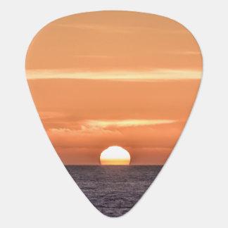 Orange Sky Ocean Sunset Guitar Pick