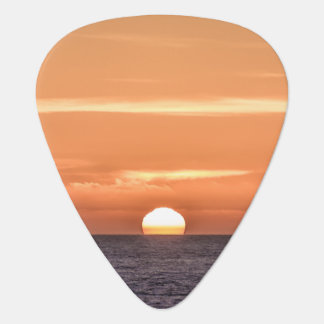 Orange Sky Ocean Sunset Guitar Pick
