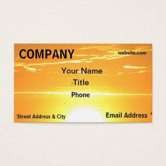 Orange Sky Sunset Sunrise yellow Business Card