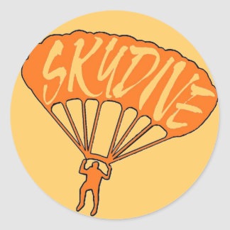 Orange skydive fanatic window stickers