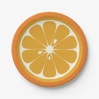 Orange Slice 7 Inch Paper Plate