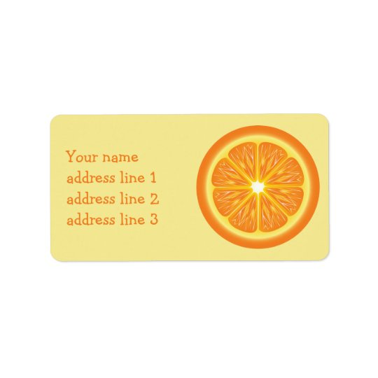 Orange Slice And Custom Address Info Label