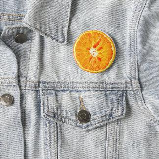 Orange Slice Badge 2 Inch Round Button