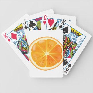 Orange Slice Bicycle Playing Cards