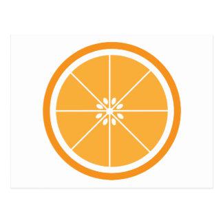 Orange Slice Fruit White Postcard