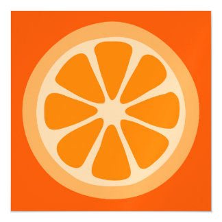 Orange Slice Magnetic Invitations