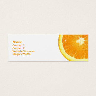 Orange Slice Mini Business Card