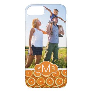 Orange Slice Pattern | Add Your Photo iPhone 8/7 Case