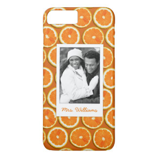 Orange Slice Pattern | Add Your Photo iPhone 8 Plus/7 Plus Case