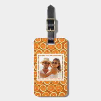 Orange Slice Pattern | Add Your Photo Luggage Tag