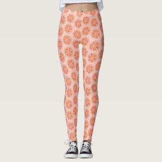 Orange Slice Pattern Leggings