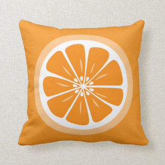 Orange Slice Summer Fun Throw Pillow