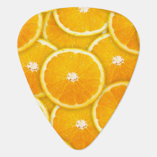 Orange slices guitar pick