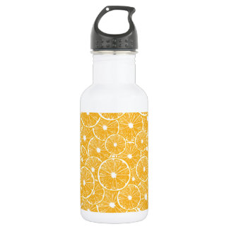 Orange slices pattern design 532 ml water bottle