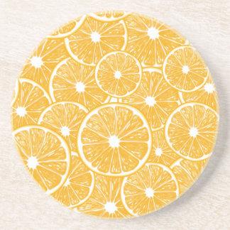Orange slices pattern design coaster