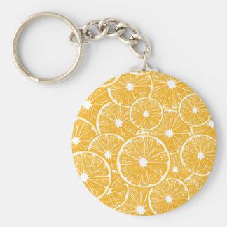 Orange slices pattern design keychain