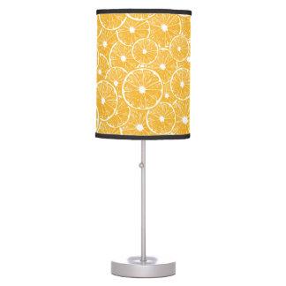 Orange slices pattern design table lamp