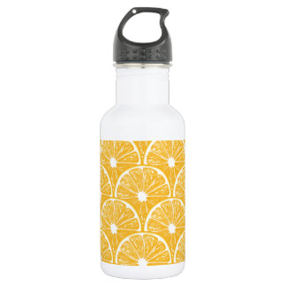 Orange slices, tropical fruit pattern design 532 ml water bottle