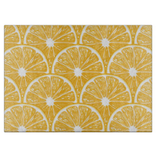 Orange slices, tropical fruit pattern design boards